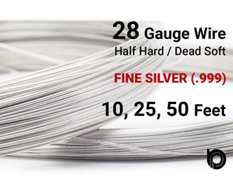 28 gauge wire etsy fine silver round wire 28 gauge wire half hard or dead soft wire greentooth Choice Image
