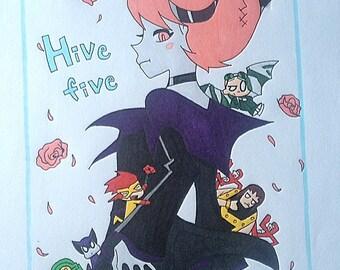 Hive Five PRINT