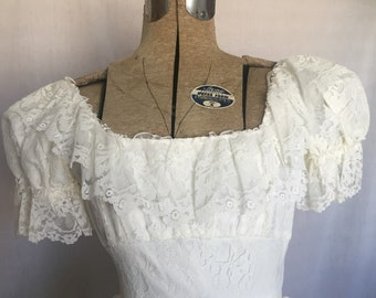 1970's Lace Wedding Gown