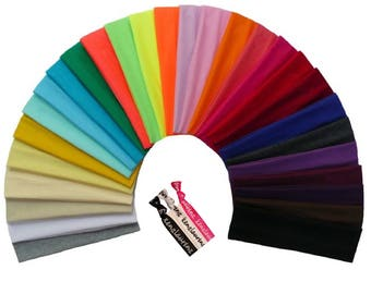 12 Cotton Headbands You Pick Colors Soft Stretch Sports Yoga Headband Sweat Absorbent Elastic Head Band Blanks
