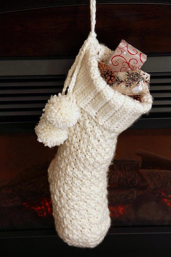 Crochet Christmas Stocking Pattern Christmas Stocking With