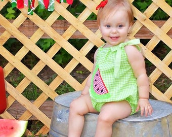 Baby Girl Romper, Watermelon Romper, Summer Romper, Smash Cake Romper, Photo prop