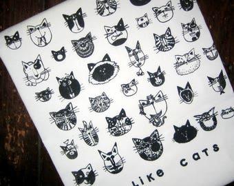 I LIKE CATS Kitchen Towel