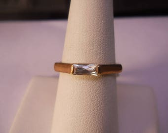 Copper Ring with With Cubic Zirconia Size 8.5 #FJW518