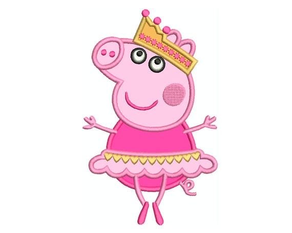 PEPPA Pig Ballerina * Machine Applique Embroidery * Instant Digital Download