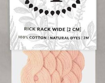 Naturally Dyed 20mm Rick Rack-Rose