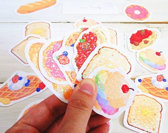sparkle glitter i'm-bready sticker pack
