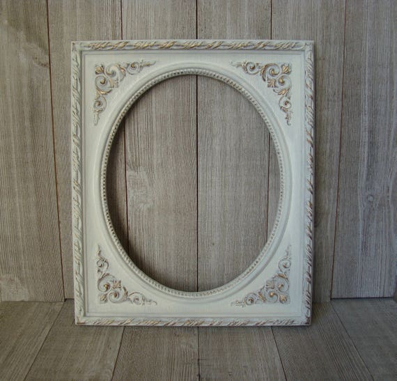 RESERVED FOR ELIZABETH Vintage 8 X 10 Oval Frame, White Oval Frame ...
