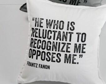 Frantz Fanon Pillow, 100% cotton, 20 x 20, single-sided