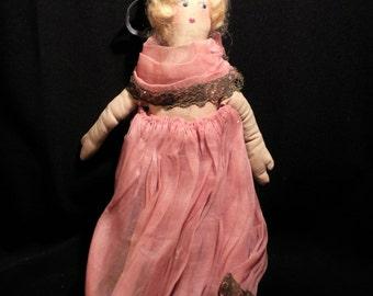 Rare Antique Cloth Doll