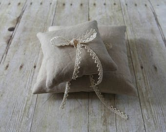 Linen Ring Bearer Pillow, Choose Your Linen Color, Two Sizes