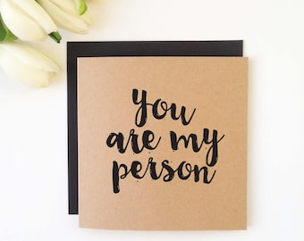 My Person - Lovers Card