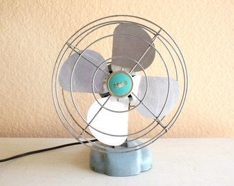 Vintage Blue Zero Eletric Fan by McGraw - Edison Company./ Model 08499 Working Condition