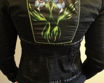 Hand Painted Snap Dragon Jacket