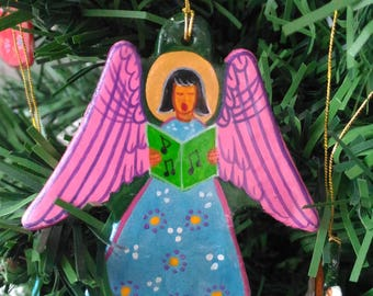Christmas Ornament Angel,Angel Christmas Tree Ornament,Winter Ornament,Original Hand Painted