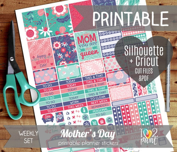 mothers day weekly printable planner stickers erin condren. Black Bedroom Furniture Sets. Home Design Ideas