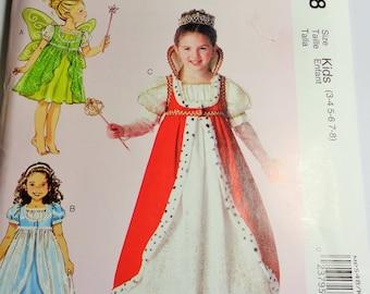 UNCUT McCall's COSTUMES PATTERN  #MP548/M7212 Kids (3-4, 5-6, 7-8) 2015
