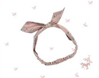 Headband baby / child cloud Butterfly pink