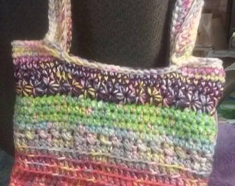 Boho bag, Market bag, tote bag, crochet handbag, shoulder bag,