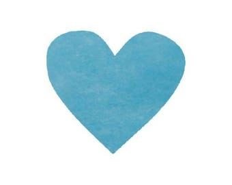 Turquoise Blue hearts 100 in consolidated to sprinkle 5,4 cm