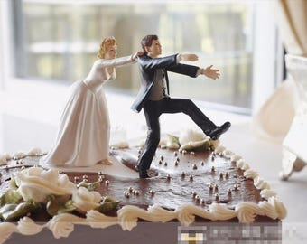 "Funny ""Come back"" Cake topper for wedding marriage"