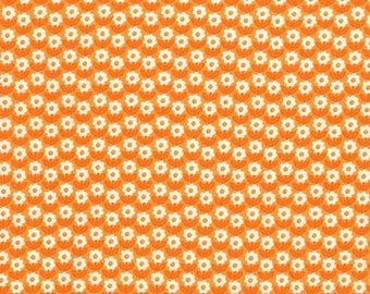 Michael Miller Fabrics - Bunnies Garden Flower Path in Orange - CX7763-CARR-D - Holiday and Seasonal