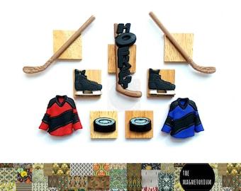 Hockey Magnets [Fridge Magnets, Fridge Magnet Sets, Refrigerator Magnets, Magnet Sets, Office Decor, Kitchen Decor, Magnetic Board]