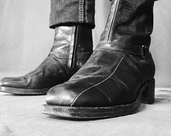 Mens Chelsea boots, Beatle boots, Mens ankle boots, Leather soled shoes, 1960s 70s  Chelsea boots