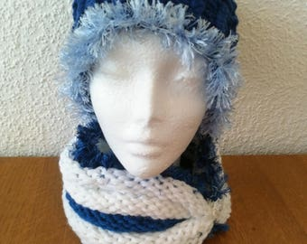 Handmade slouchy spiral hat