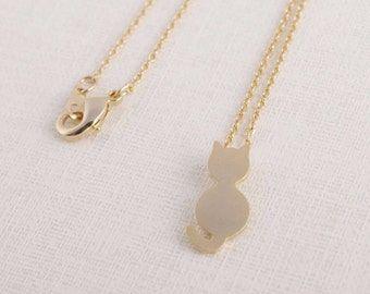 Cat / Necklace / Pendant / Gold / Hipster / Trendy / Everyday / Simple / Dainty / Minimalist / Petite