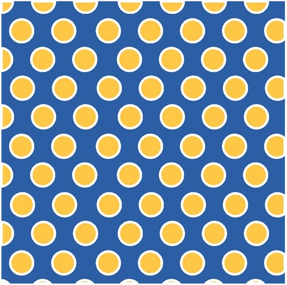 Blue With Yellow Gold And White Dots Craft Vinyl Sheet Htv
