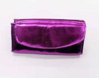 Metallic Purple Faux leather Purse