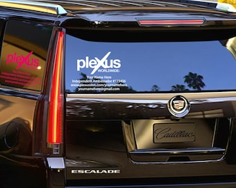 "Plexus Worldwide Small Window Custom Personalized Decal Up To 11"" Tall (Glossy) 202763412015AO"