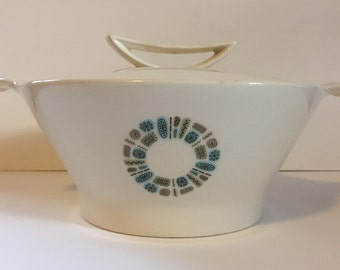 Canonsburg Temporama Mid Century Round Covered Vegetable Dish