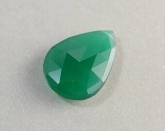 Pendentif en Onyx vert, gros pendentif en pierre, 25mm