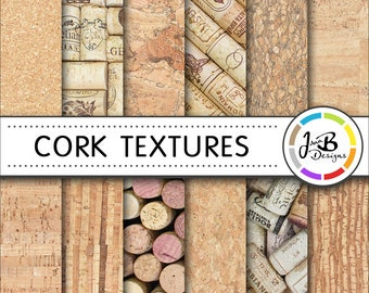 Cork Digital Paper, Cork, Cork Paper, Cork Texture, Cork Digital, Cork Background, Scrapbook Paper, Digital Download, Printable Paper, Pack