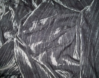 PASARI OTHEA CRINKLE Velvet Fabric Remnant Charcoal
