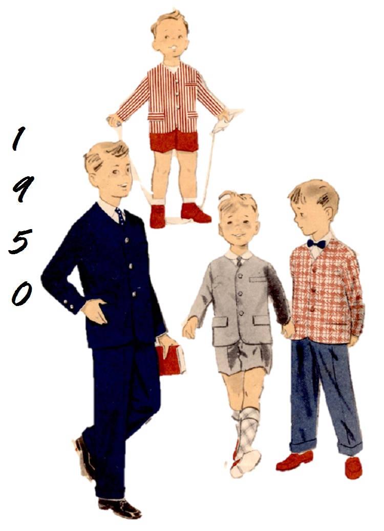 1950 vorab 8051 Größe 4 jungen Kleid Anzug lässig Anzug kurze