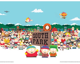 """South Park - Cast - 24x36"""" Poster"""