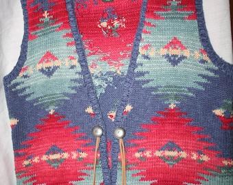 Ralph Lauren Tribal Knit Sweater Vest (L)