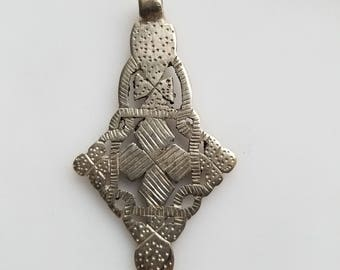 Coptic Cross pendant, African pendant, Cross pendant, Ethiopian Coptic Cross, Ethiopian Cross, silver pendant
