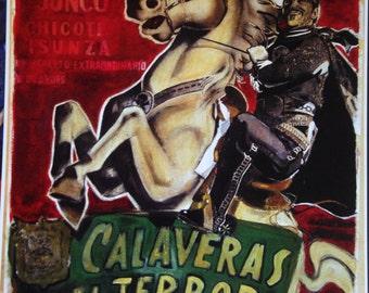 Calaveras Del Terror print