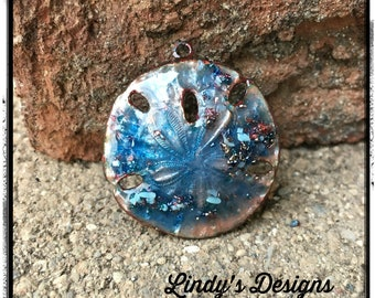 Water Blue Sand Dollar Pendant