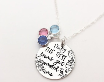 Mother's Day Gift for Mimi - Only the best moms - Birthstone Necklace for Grandma - Nana Gift - Flowers for Grandma - New Mimi Gift