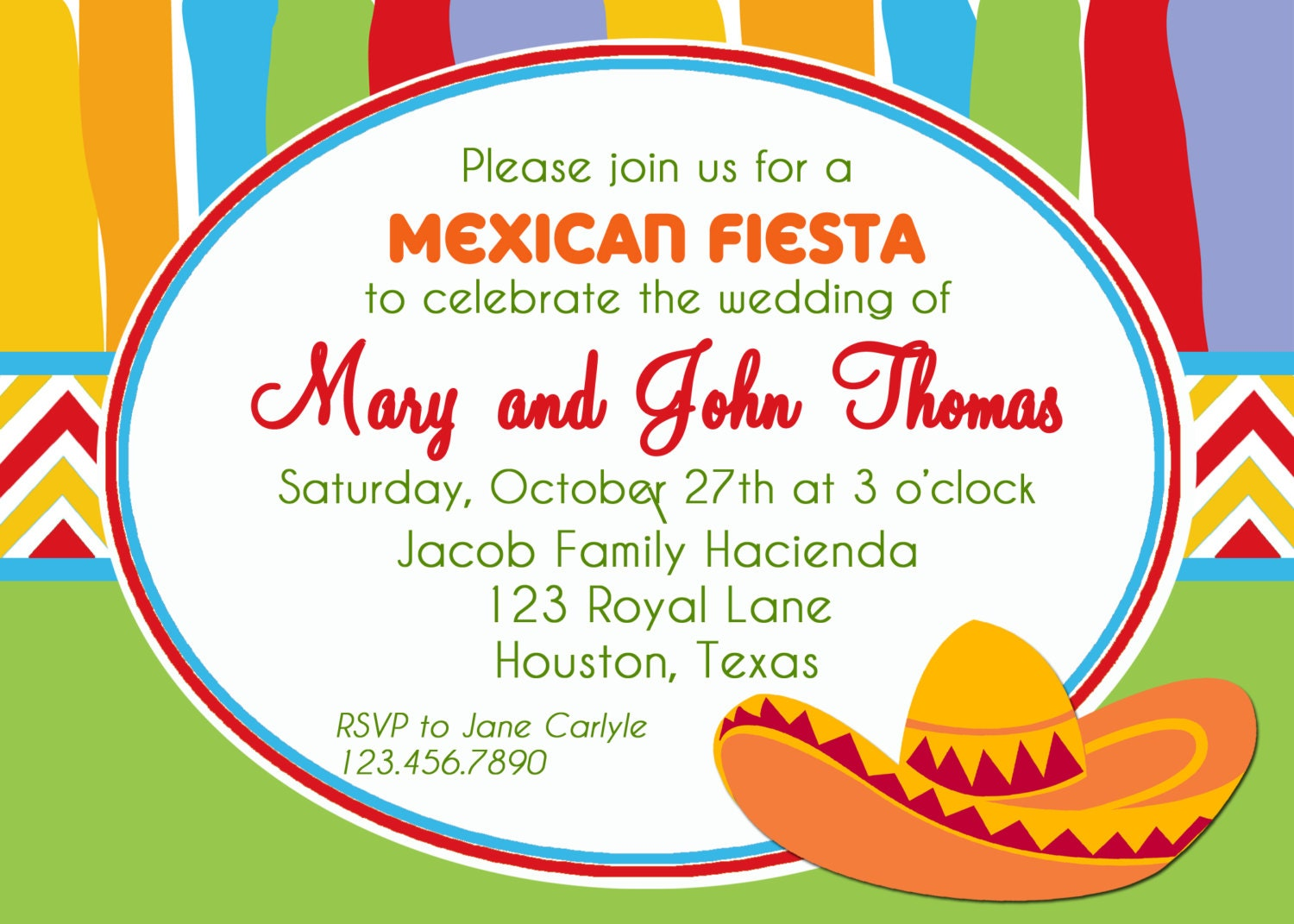 Mexican Fiesta Invitation Printable Or Printed With Free