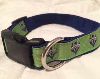 Seattle Sounders Dog Collar