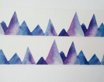 Design washi tape Mountains Lace watercolor Wide
