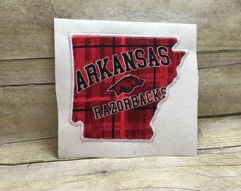 Arkansas Applique Design, Applique Arkansas Embroidery Design