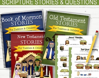 Printed & Bound Scripture Stories and Questions for Kids