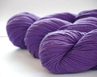 PURPLE ~ ARAN Pure natural Cotton yarn ~ co.no 35